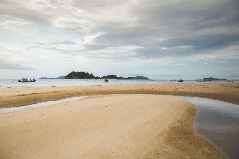 Island Chumphon EyeEm Selects Water Beach Land Sea Sky Beauty In Nature Scenics - Nature Sand Tranquility Cloud - Sky Nature Tranquil Scene Day No People Coastline Outdoors Travel Destinations Landscape Non-urban Scene Low Tide