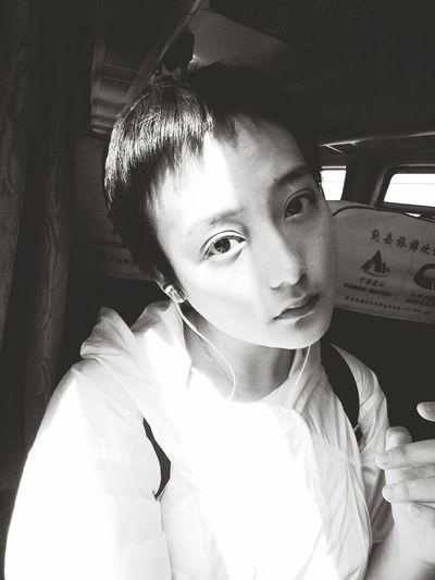 Eyes Light And Shadow Hello World Hi! Short Hair Fairytale  Check This Out That's Me Personality  Dreaming Faces Of EyeEm Uniqe Beauty Portrait Taking Photos Blackandwhite About Me Black And White Train Model Peace On The Road Me Freedom Breathe