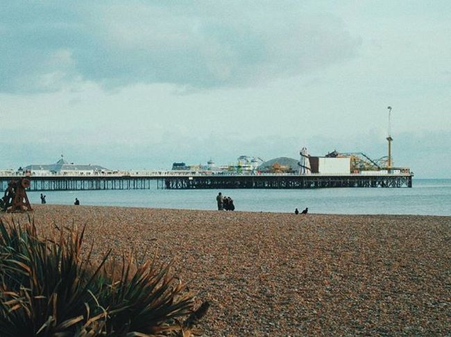 """""""What else is there really to do except to be true to yourself and see where it leads you?"""" – Lana Del Rey Brighton Brightonpier England VSCO Vscocam C9 Afterlight Snapseed Skrwt Jj  Ink361 Vscoauthentic Aesthetic TheCreatorClass Dark Light Sunset Ocean Sea Sun Beach LanaDelRey"""
