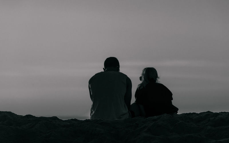 Couple Love Beach Bw Couple Commitment Love Couple Monochrome Pair Two People