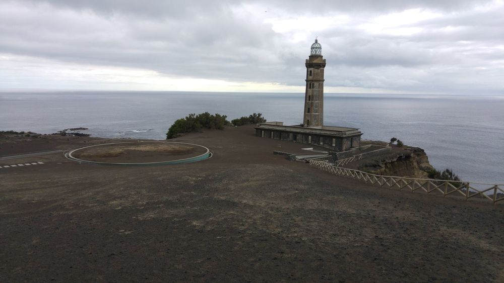 Faial Island Capelinhos Volcanic Rock Musuem Clouds And Sky Atlantic Ocean Silence Of Nature Azores Islands Portugal