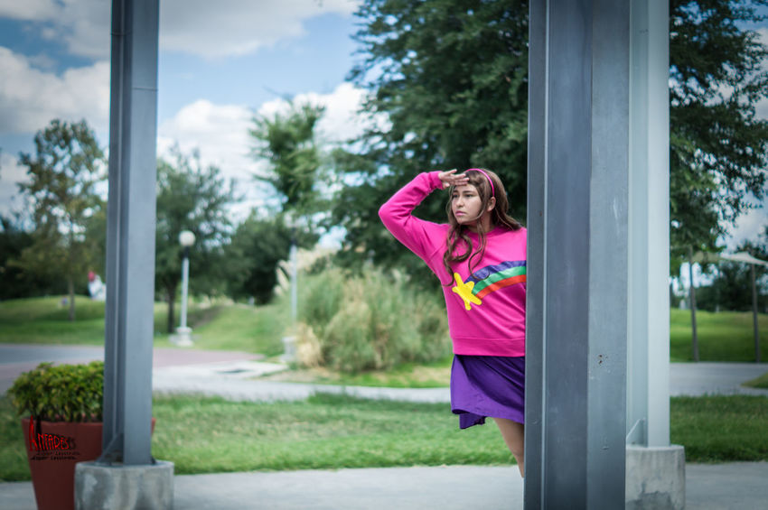 50mm F1.8 A37 Cartoons Cosplay Cosplay Shoot Cosplayer Cosplayers Cosplaying Day Fall Grass Gravity Gravity Falls Mabel Person Sony Sonyalpha