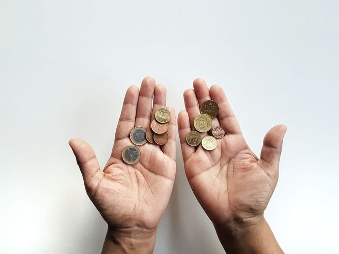 Holding Holding Hands Holding On The Week on EyeEm Picoftheday Photooftheday Money Money Money Money Coin Coins Finance And Economy Human Hand Close-up Body Part Finger Human Finger Personal Perspective Low Section