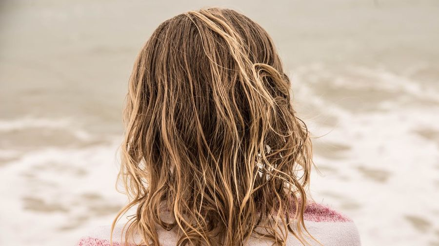 Marcweberde Beach Sand One Person Sea Real People Long Hair Shore Headshot Outdoors Rear View Focus On Foreground Girls Nature Vacations Leisure Activity Summer Day Blond Hair Water Lifestyles Virginia Beach Sand Dune