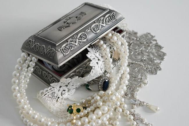 Accessories Box Celtic Knot Close-up Irish Jewelry Jewelry Box Lace No People Pearls Silver