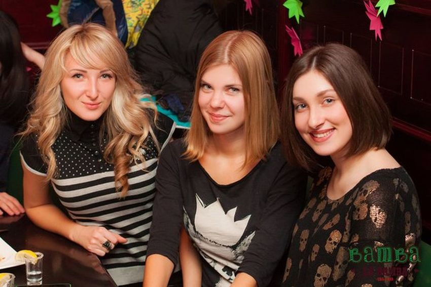 Friends Girls Party Ukrainian Girl Smile Funny Beautiful