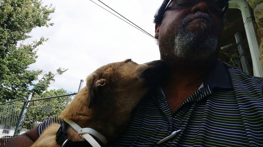 Pet Portraits Bishop blessing me with dog kisses Domestic Animals Headshot Multimedia Journalist Perspectives Of Mind Blackberry Castle Photography Reggie Banks Sr Mix Roth Weiler Outdoors The Week On EyeEm This Is My Skin HUAWEI Photo Award: After Dark