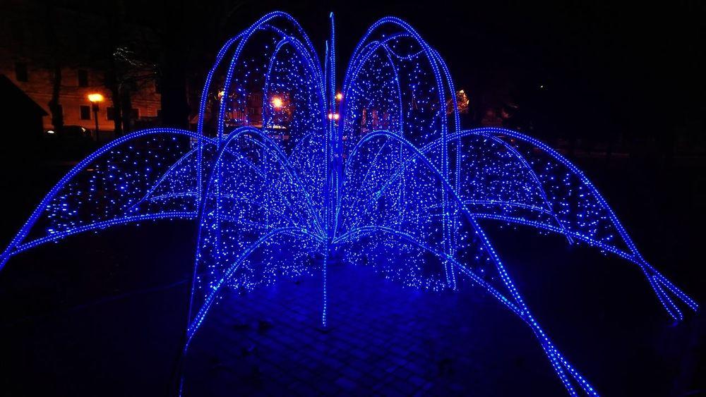 Night Christmas Decoration Blue Celebration No People Outdoors