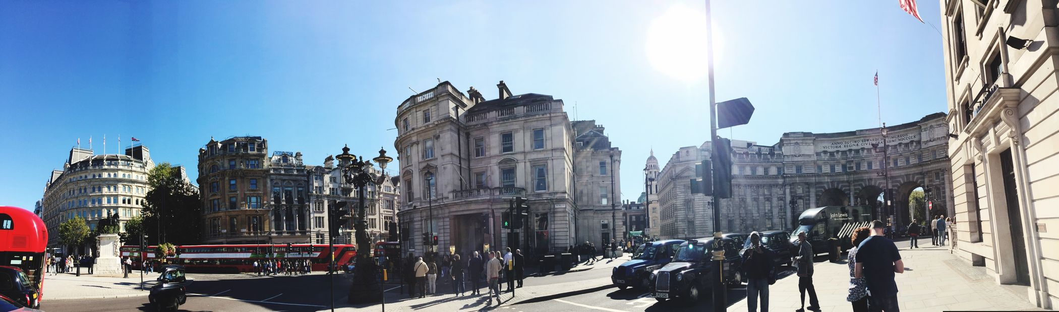 The square in London England