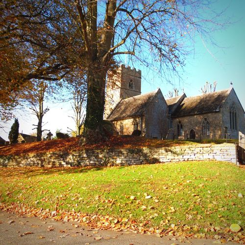 Photography Architecture Built Structure Building Exterior Church Tree Grass Leaves Autumn Autumn Colours Religion Architecture Day No People Wall Sunlight And Shadow Beauty In Nature On A Hill