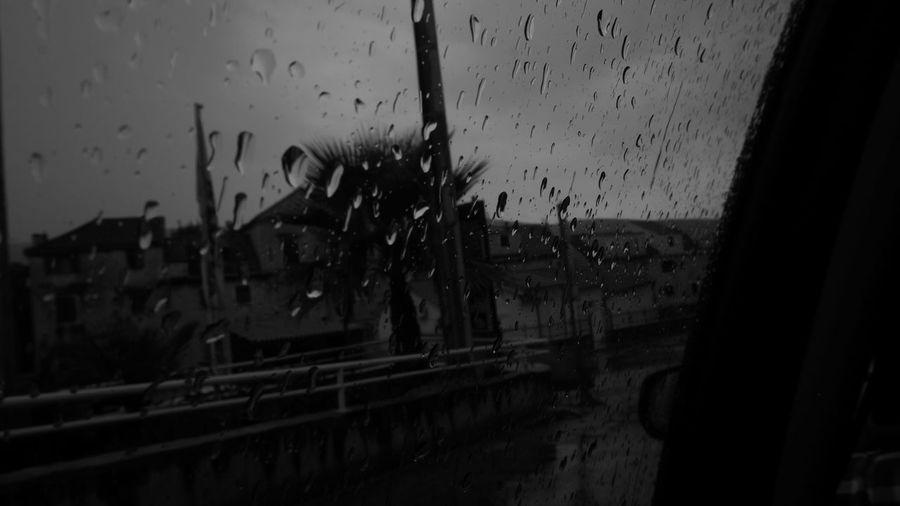 Car Croatia Dark Rainy Days Sadness Travel Window