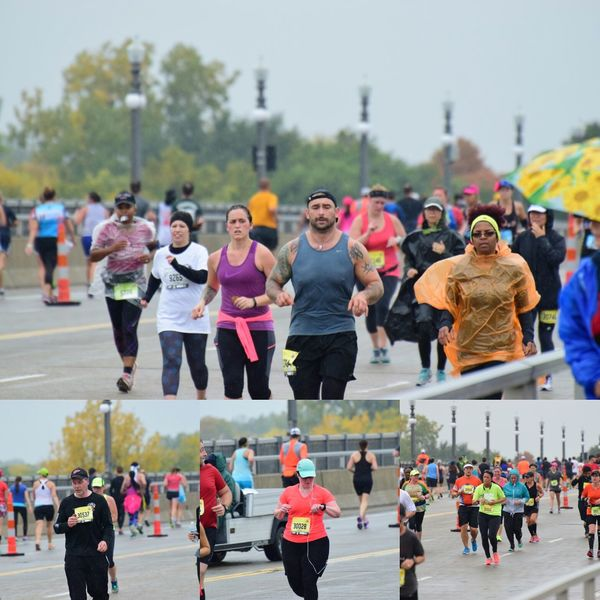 Runners Large Group Of People Lifestyles Adult Fun Healthy Lifestyle People Day Leisure Activity Motion Adults Only Women Men Sport Young Adult Sports Clothing Young Women Togetherness Outdoors City Smiling