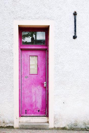 The doors Pink Color Window Purple Façade Architecture Building Exterior Built Structure Close-up Closed Door Door Front Door Door Handle