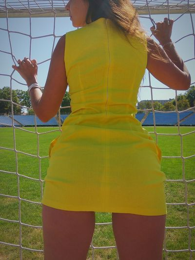 #sexy #ass #play #girl #Football People Yellow Only Women Adults Only Playing Field One Young Woman Only Young Women Track And Field Stadium