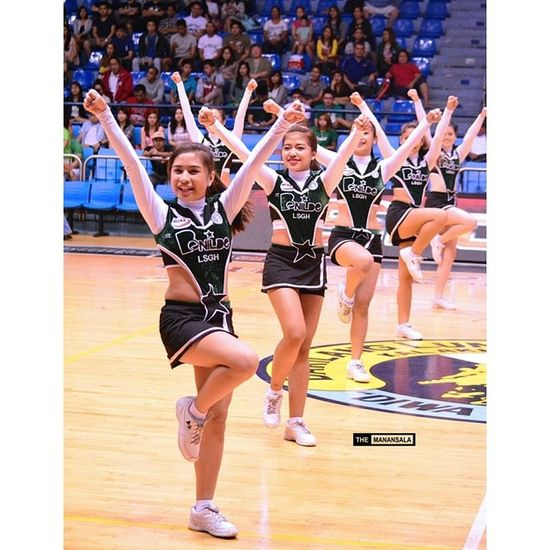 Stunner! ???? . . . NCAA Ncaa90 Ncaaseason90 CSBvsLPU benilde lsgh hoop basketball themanansala cheerleaders
