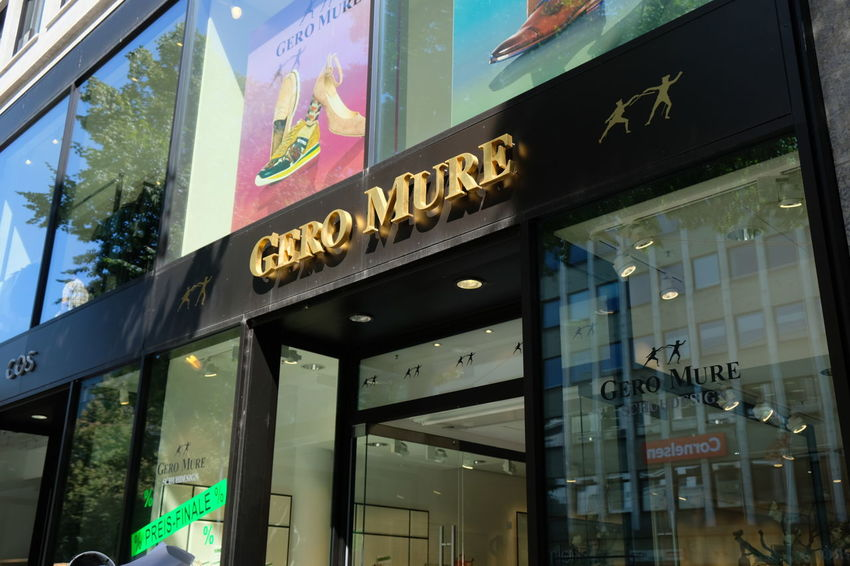 Mannheim, Germany - August 23, 2017: Gero Mure shoe store exterior. Founded in 1979 in Heidelberg Fashion Shoe Shoe Store Shoes Shop Shoes ♥ Shopping Shopping ♡ Brand Building Exterior Footwear Low Angle View No People Outdoors Retail  Shoes Shoes Store Shop Shopping Mall Sign Store Store Sign Storefront Window