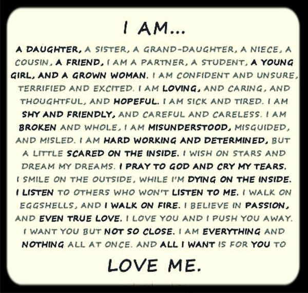 This is me! Being Me Emotions That's Me Love Me For Who I Am.
