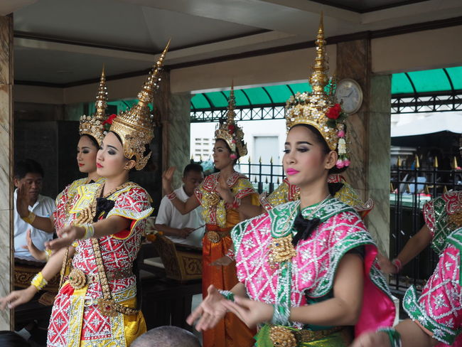 Traditional Clothing Culture Dance Bangkok Thailand Group Of People