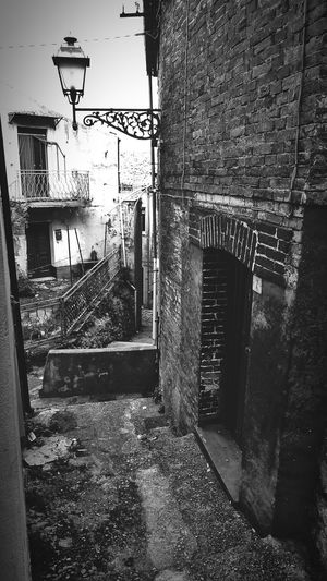 Architecture Building Exterior Built Structure Wall - Building Feature Brick Wall City Narrow Day Old Town Blackandwhite Black & White