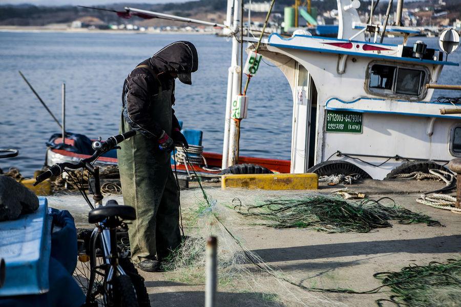 Jukbyun Port Winter Maintenance Fishing Net Untold Stories Korea Rural Landscape