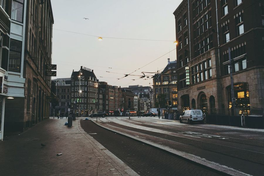 Amsterdam. Morning Walk Amsterdam