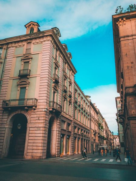 Turin scapes EyeEm Selects Building Exterior Architecture Built Structure Sky City Building Street Cloud - Sky Day Low Angle View Travel Destinations Outdoors History Residential District Street Light Travel No People