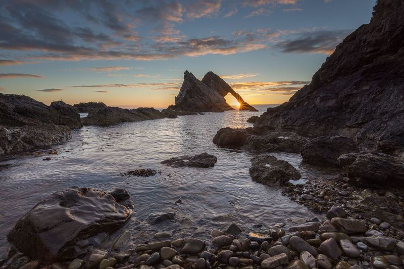 Sunrise in the arch at Bow Fiddle rock, Scotland Nikon D7200 Landscape Seascape Scotland Sunrise Nikon Leefilters Tokina 11-16 Mm F/2,8 Morayshire Beach Nature Sunrise_sunsets_aroundworld Countryside Nature Photography