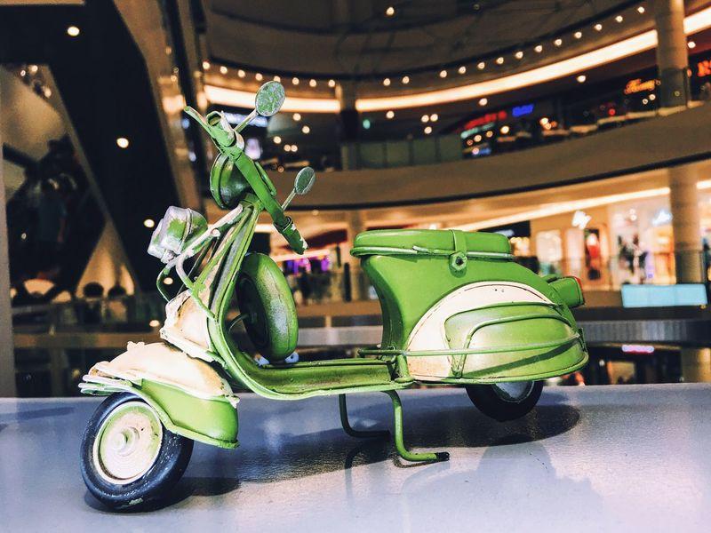 VASP Motorcycle Vespa Green Color Toys Model Children Divestreetphotography