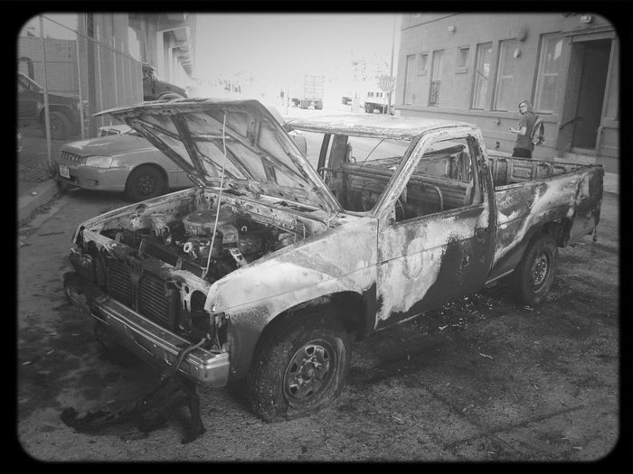 Poor truck...great photo opp though. Got lots of cool pics out of it. Truck Photo Opp Truck Melt Car-b-q