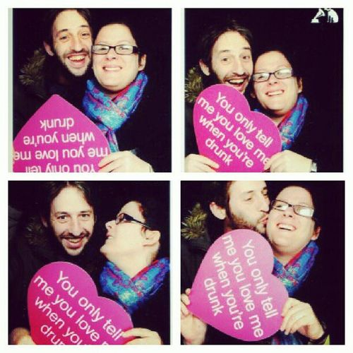 February photo-a-day challenge. Day 14. Love is... This is an old photo from 3 years ago, taken in a free photo booth in HMV. Love is being silly together. Fmsphotoaday Love Hmv