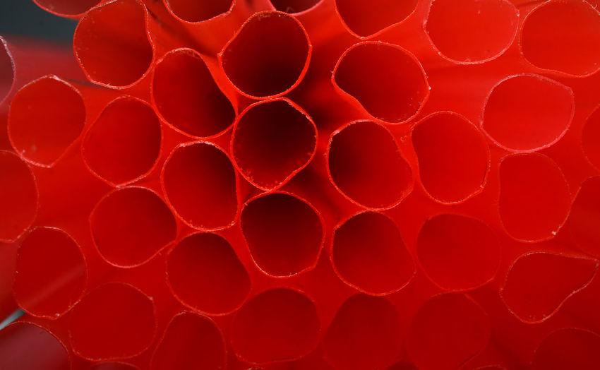 Full frame shot of red straw
