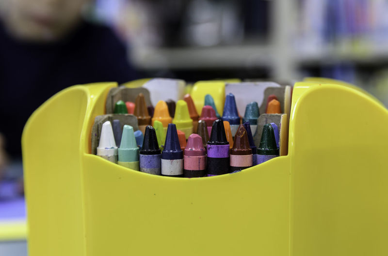 Box of crayons on a blurred backgrund (clipping path included) Abundance Arranged Arrangement Choice Clipping Path Close-up Collection Colored Pencil Colorful Colors Crayon Creativity Differential Focus Group Of Objects In A Row Indoors  Large Group Of Objects Multi Colored No People Order School Selective Focus Still Life Variation Vibrant Color