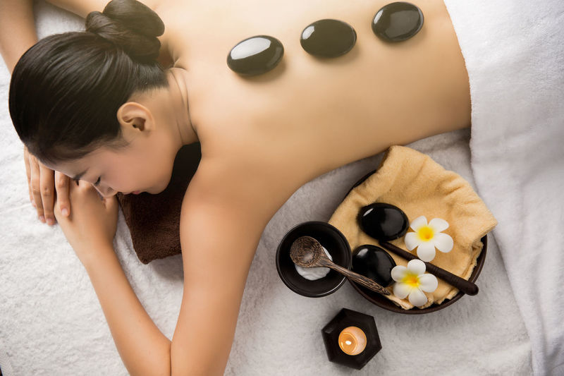 Beautiful Woman Beauty Food Food And Drink Healthy Lifestyle High Angle View Human Body Part Indoors  Indulgence Leisure Activity Lifestyles Luxury Lying Down One Person Real People Relaxation Spa Spa Treatment Wellbeing Women Young Adult Young Women