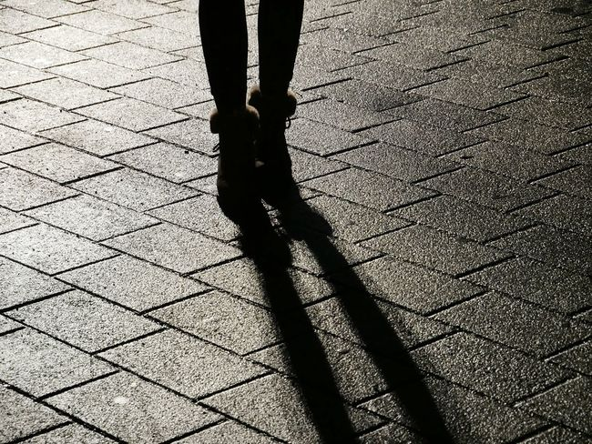shoes and shadows Shoes Standing Human Leg Düsseldorf Light Light And Shadow EyeEm EyeEm Best Shots First Eyeem Photo Awesome Cool Textured  Low Section Shadow Human Leg Sunlight Day Real People Lifestyles High Angle View One Person Human Body Part Outdoors Standing People Adult Adults Only