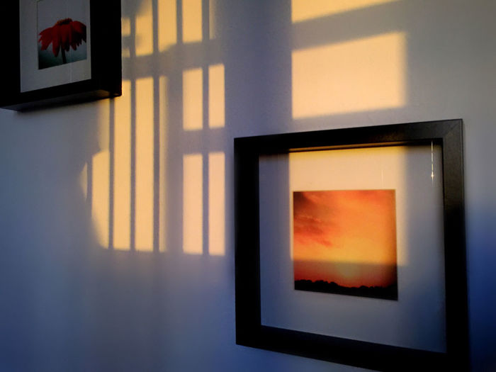 Sunset ... alternate version ... 🚶🏻 Tadaa Community At Home From My Point Of View IPhoneography Beauty In Ordinary Things Hang It On The Wall Framed between Tales From The Kitchen and Notes From The Roof