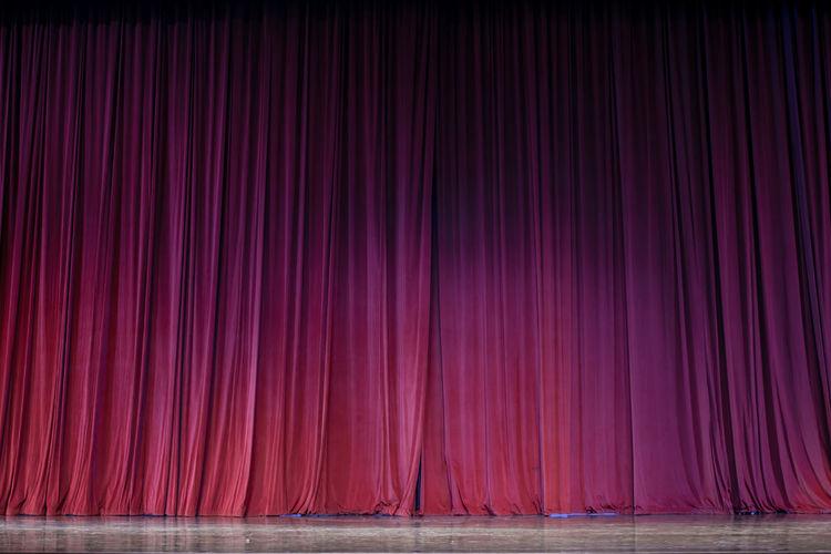 Full frame shot of pink curtain