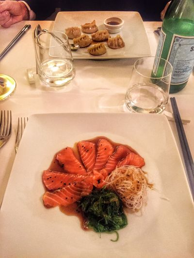 Crudo Di Salmone Soia Teriyaki Chinese Food Saturdaynight Dinner Rome Enjoying Food