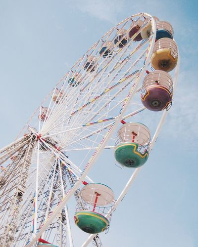Amusement Park Arts Culture And Entertainment Amusement Park Ride Leisure Activity Fairground Ride Fairground Low Angle View Ferris Wheel Enjoyment Sky Big Wheel Day Ride Fun No People Outdoors Childhood Clear Sky
