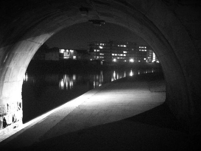 Arch Architecture Built Structure Indoors  Illuminated No People Night City Blackandwhite Filmnoir Noir