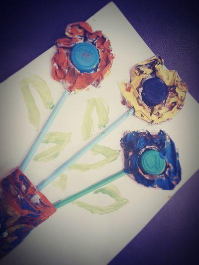 hey flowers Artpaper Artpaint Flowers Recycle Art