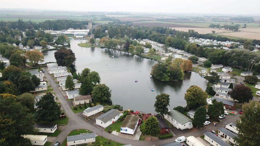 High Angle View Aerial View Outdoors Water Nature Beauty In Nature Caravan Caravaning Sky Tranquil Scene Picaday Inspired Lifeisbeautiful Life Events Life's Simple Pleasures... Nature Photography Landscape Aerial Photography Cloud - Sky Loch  Caravan Park Caravans Castle Boats