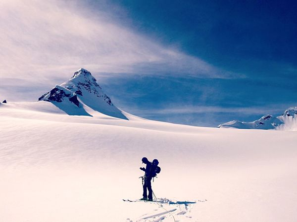 Skiing around in the battle range. Purcells Snow Winter Mountain Backcountry Splitboarding Bc Adventure
