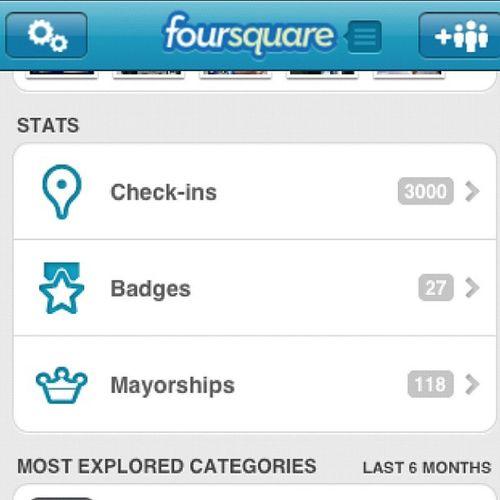 3000 Check-In On Foursquare...