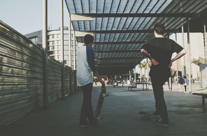 Urban Skate Barcelona Enjoying Life