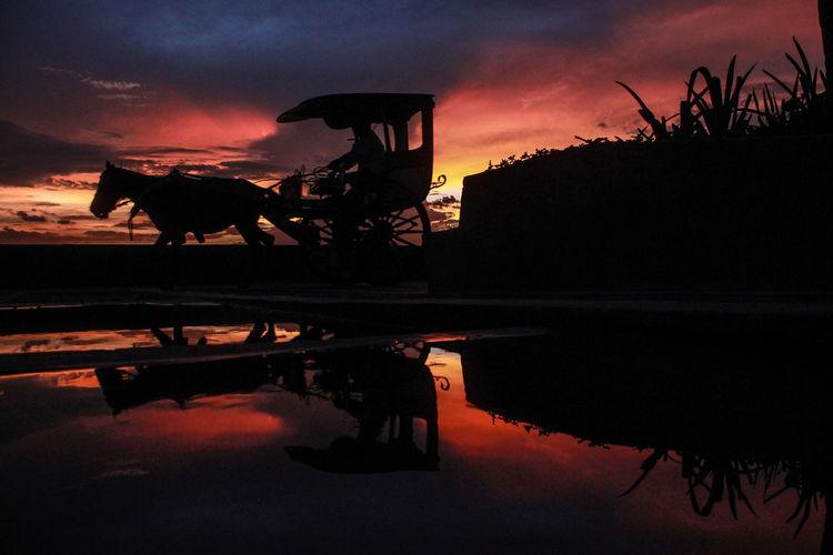 Kalesa EyeEm Selects #sunset #reflection #nature #streetphotography