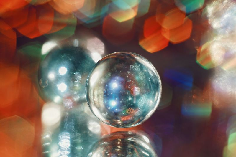 Bokeh Glass SONY A7ii Light Multi Colored Shiny Reflection Hanging Close-up Crystal
