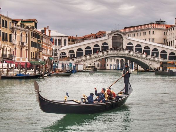 Tourism Travel Destinations City Vacations Gondola - Traditional Boat Bridge - Man Made Structure Travel Gondolier Tourist People Cityscape Urban Skyline Water Outdoors Sky Architecture Day Italia Italy Architecture Autumn Cloud - Sky Canal Venezia Venecia