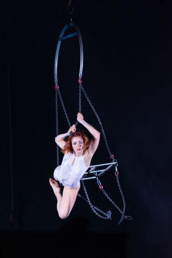 Portrait of woman in swing