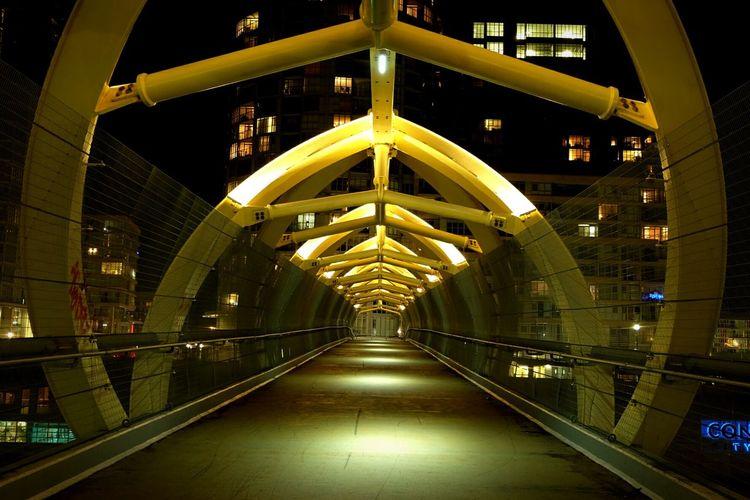 Tunnel Vision Bridgeporn Bridge Toronto Light And Shadow Nightphotography Architecture