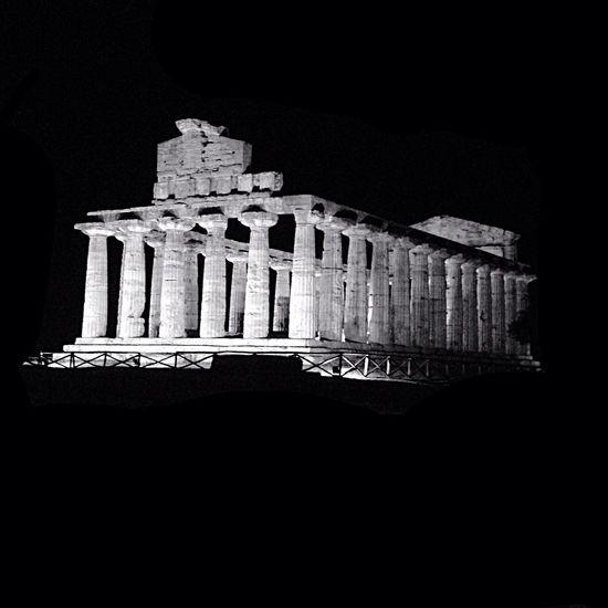 Paestum Blackandwhite Black And White Historical Building Monochrome